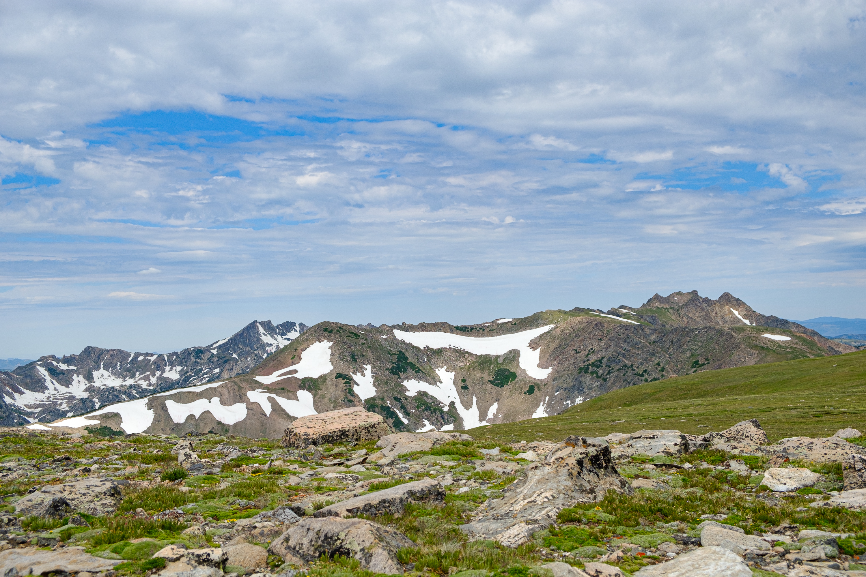 Big Agnes and Mount Zirkel from Flattop Mountain