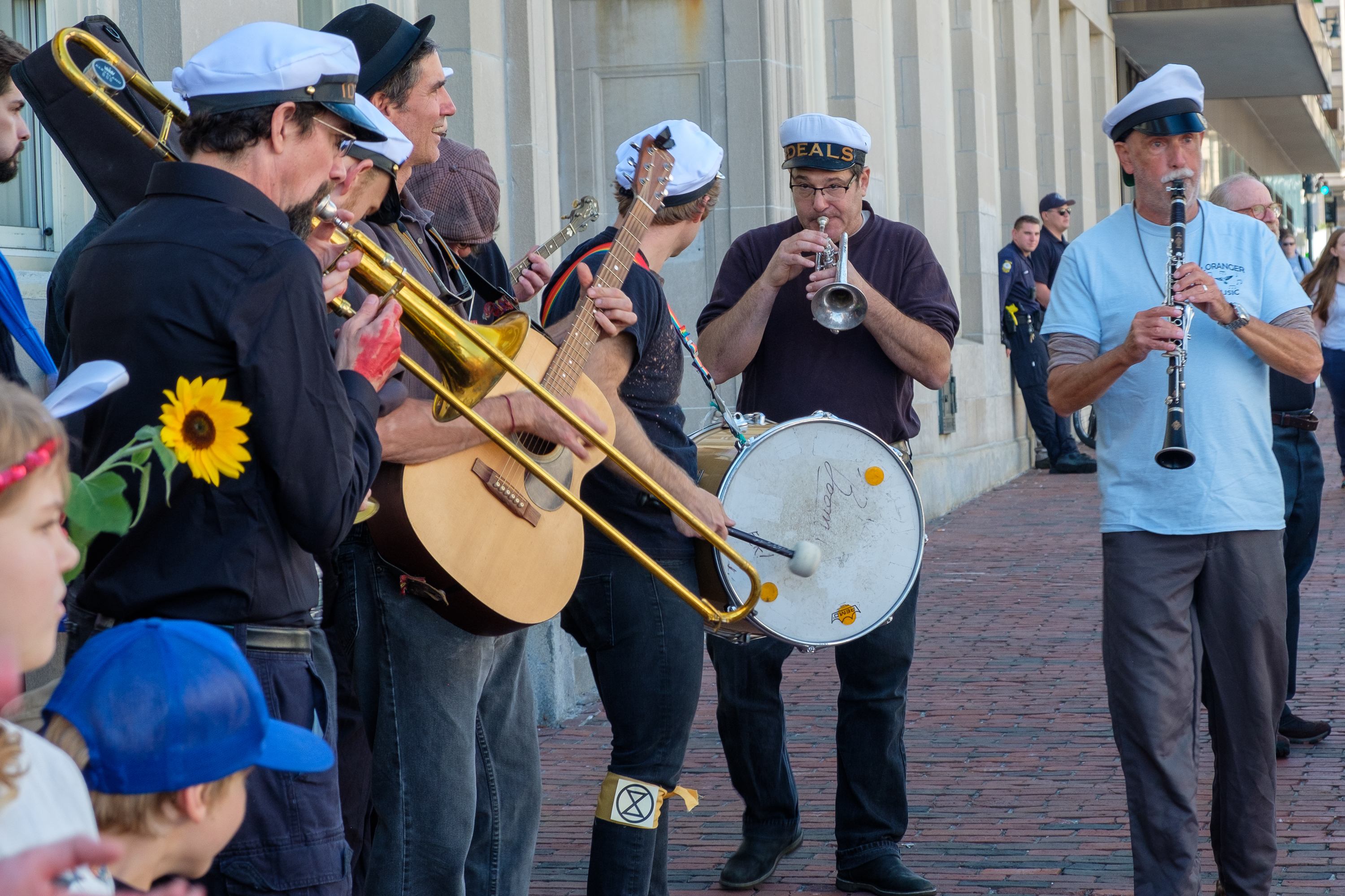 Musical Band at Global Warming Protest