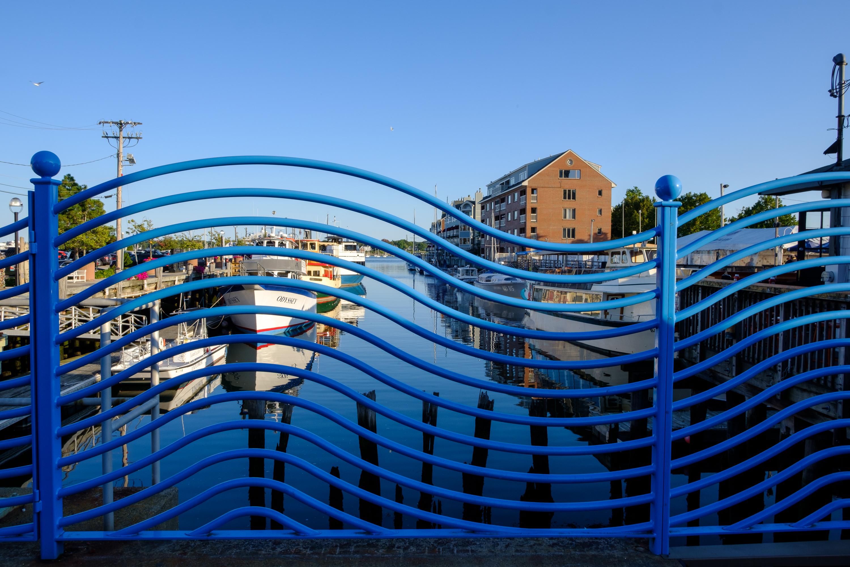 Fence along Portland Harbor