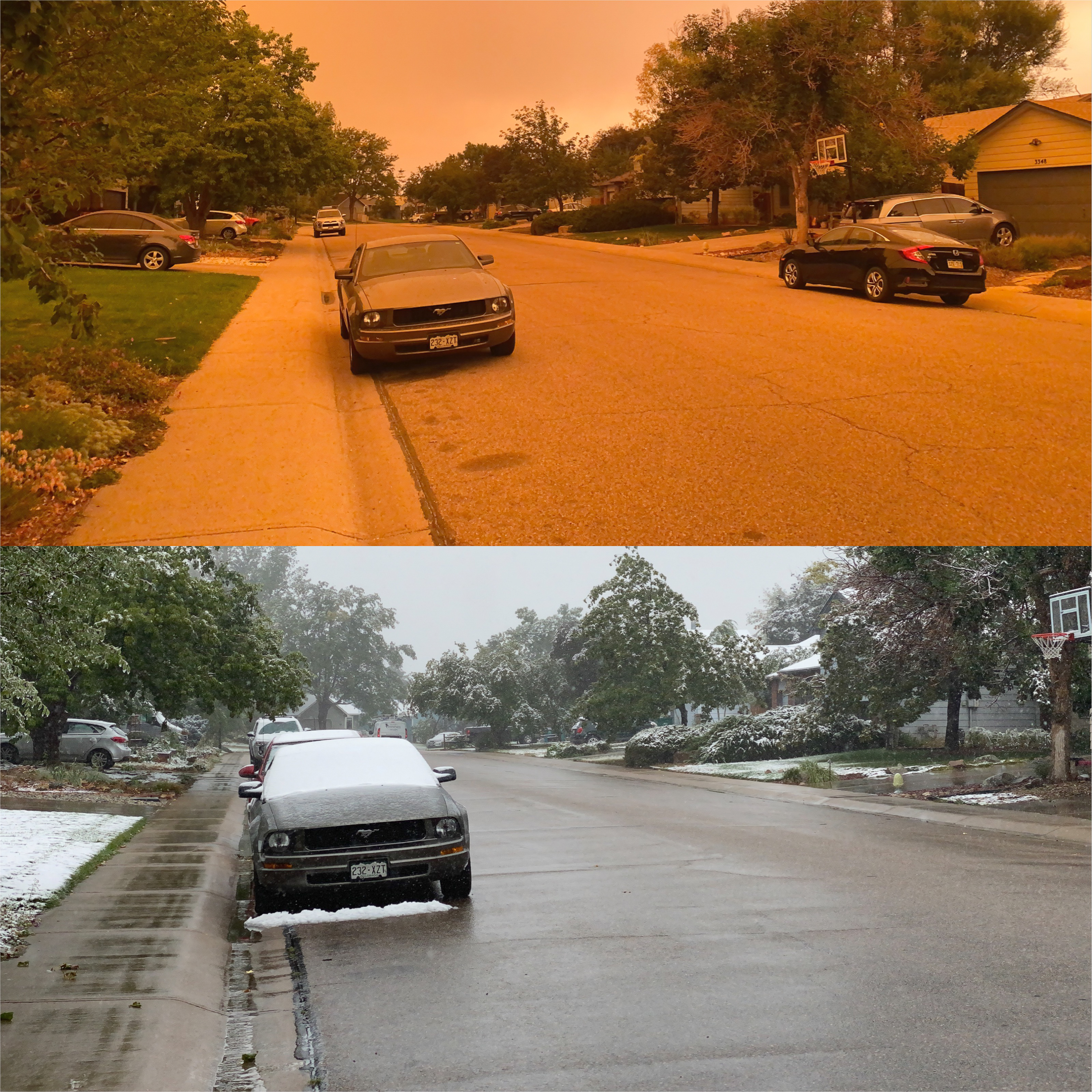 Fire and Ice- what a difference one day can make