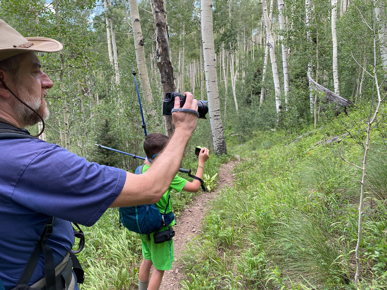 Trailside grouse paparazzi (photo credit: Dorinna)